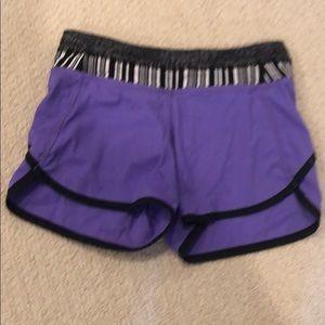 Girls ivivva purple shorts size 8 EUC